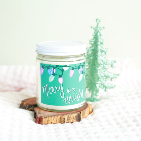 MERRY & BRIGHT CHRISTMAS SOY CANDLE
