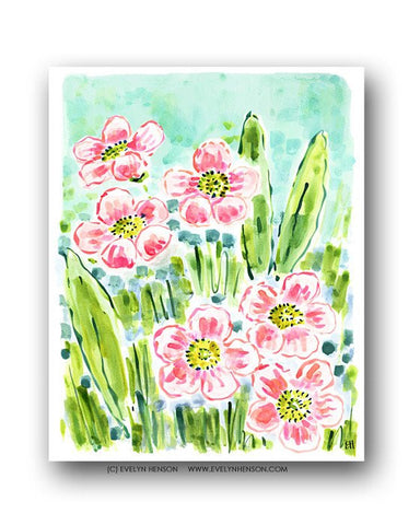 GARDEN OF POPPIES PRINT