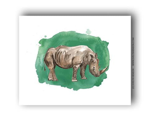 RHINO ILLUSTRATION