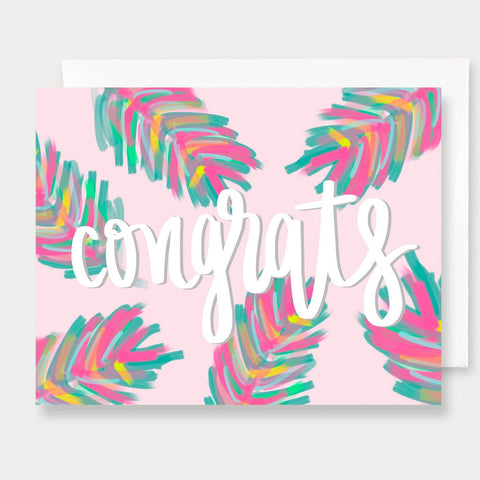 CONGRATS PALMS - A2 GREETING CARD