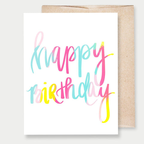 HAPPY BIRTHDAY COLORFUL - A2 GREETING CARD