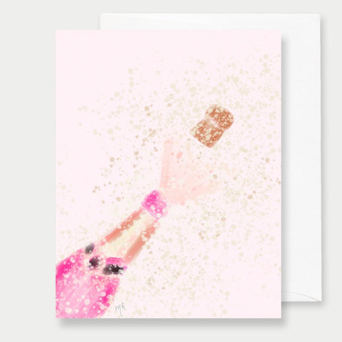 PINK CHAMPAGNE - A2 GREETING CARD