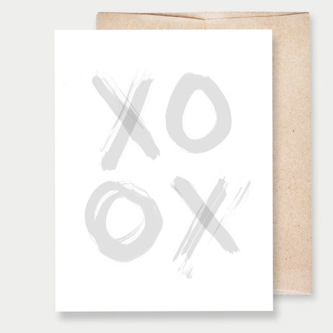 XOXO GREY - A2 GREETING CARD