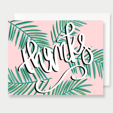 THANKS PALMS - A2 GREETING CARD