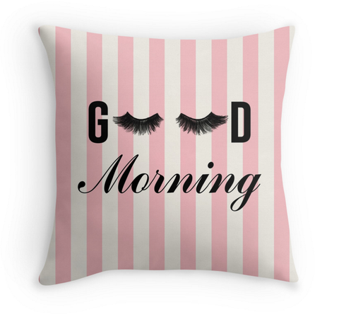 GOOD MORNING LASHES - STRIPED DECOR PILLOW