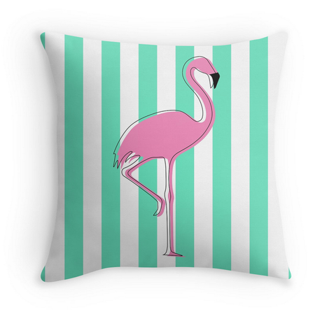 FLAMINGO IN ARUBA - DECOR PILLOW