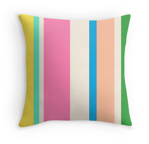 MULTI COLORED STRIPES - DECOR PILLOW
