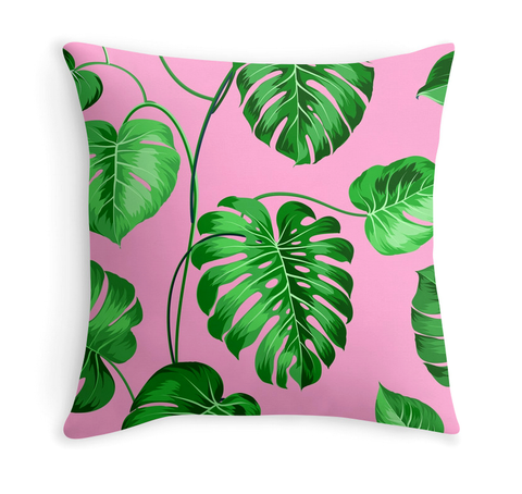 TROPICAL PLANTS - DECOR PILLOW