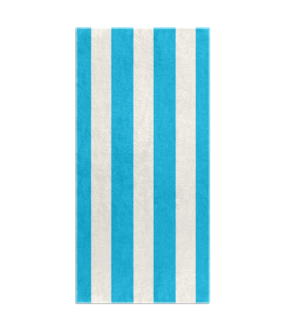 STRIPES OF CAPRI BEACH TOWEL - BLUE