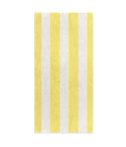 STRIPES OF CAPRI BEACH TOWEL - YELLOW