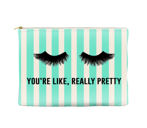 YOU'RE LIKE, REALLY PRETTY - STRIPED POUCH