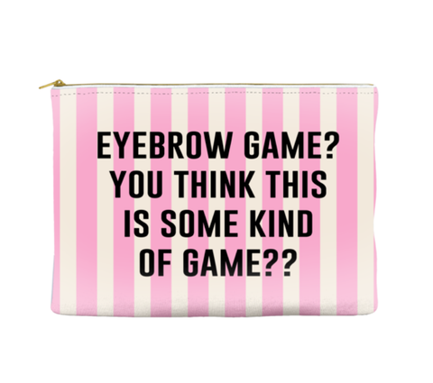 EYEBROW GAME - STRIPED POUCH
