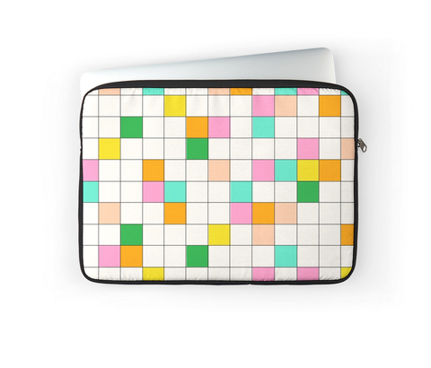 COLOR BLOCKED LAPTOP COVER
