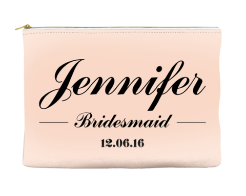 PERSONALIZED BRIDESMAID - POUCH