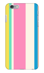 MULTI COLORED STRIPED PHONE CASE