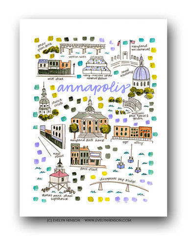 ANNAPOLIS MAP ILLUSTRATION