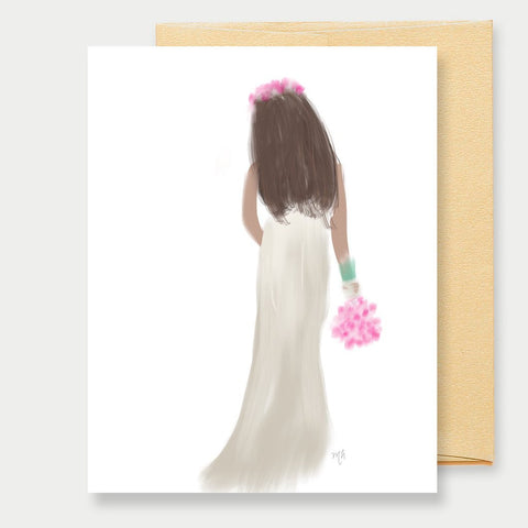 WEDDING BRIDE - A2 GREETING CARD