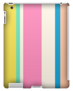 MULTI COLORED STRIPED TABLET CASE