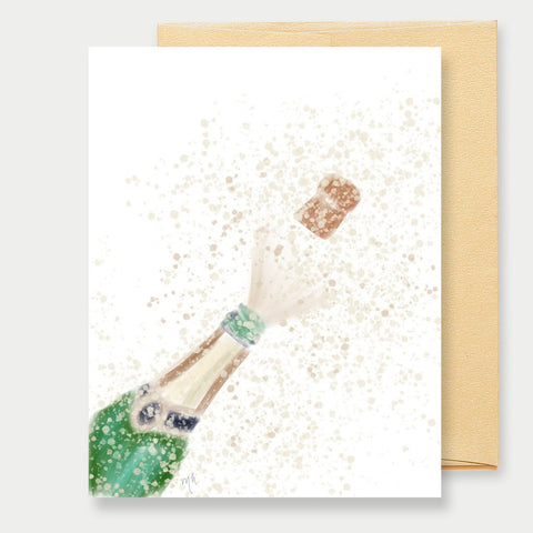 POPPIN' CHAMPAGNE - A2 GREETING CARD