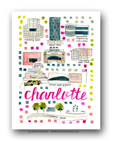 CHARLOTTE MAP ILLUSTRATION