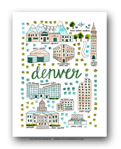 DENVER MAP ILLUSTRATION