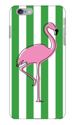 FLAMINGO IN ARUBA GREEN PHONE CASE