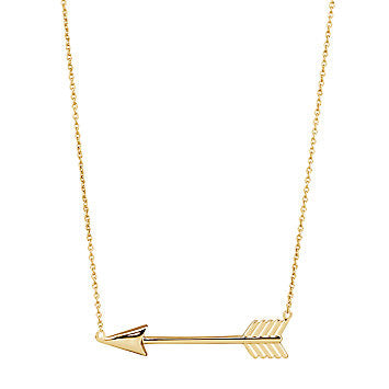 STERLING GOLD ARROW NECKLACE