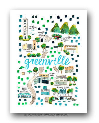 GREENVILLE MAP ILLUSTRATION