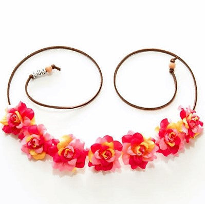 PINK & YELLOW ROSE FLOWER CROWN