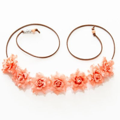 PEACH ROSE FLOWER CROWN