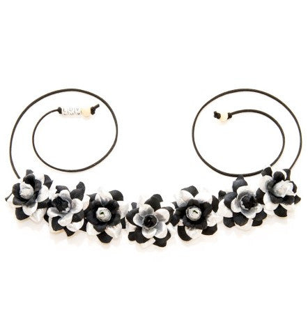 BLACK & SILVER ROSE FLOWER CROWN