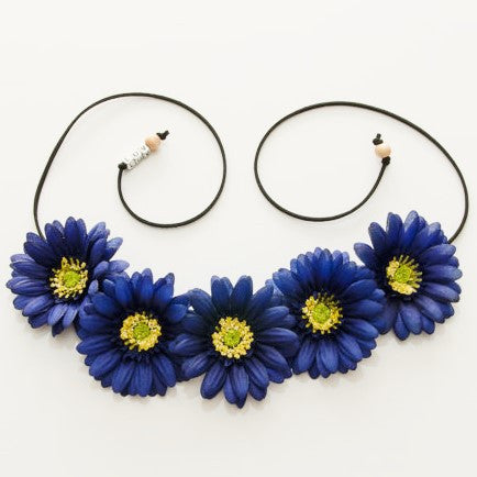 NAVY BLUE DAISY FLOWER CROWN