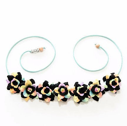 BLACK PASTEL ROSE FLOWER CROWN