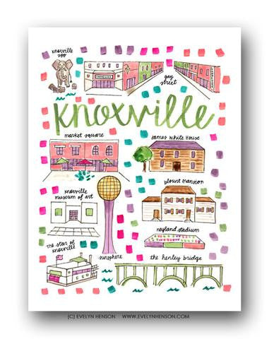 KNOXVILLE MAP ILLUSTRATION