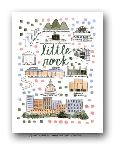 LITTLE ROCK MAP ILLUSTRATION
