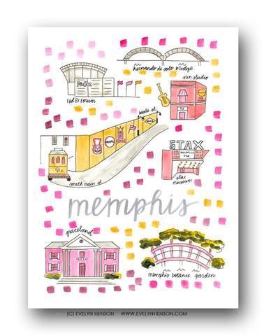 MEMPHIS MAP ILLUSTRATION