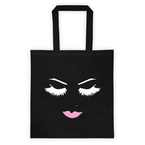 LOVELY LASHES TOTE BAG - BLACK