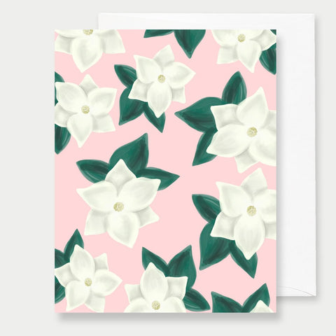PINK MAGNOLIAS - A2 GREETING CARD