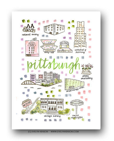PITTSBURGH MAP ILLUSTRATION