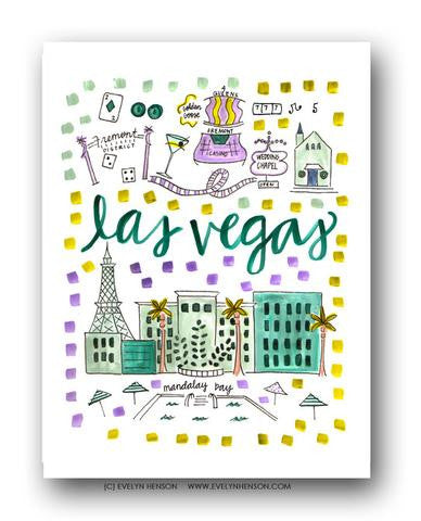 LAS VEGAS MAP ILLUSTRATION