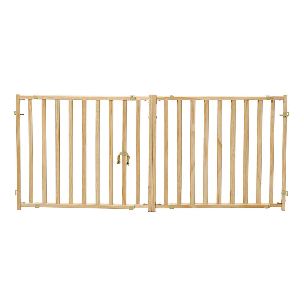 Extra Wide Wood Pet Gate Wood