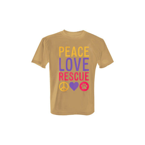 Peace Love Rescue - T-Shirt with Colored Print