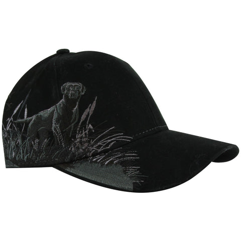 Black Labrador Embroidered Hat