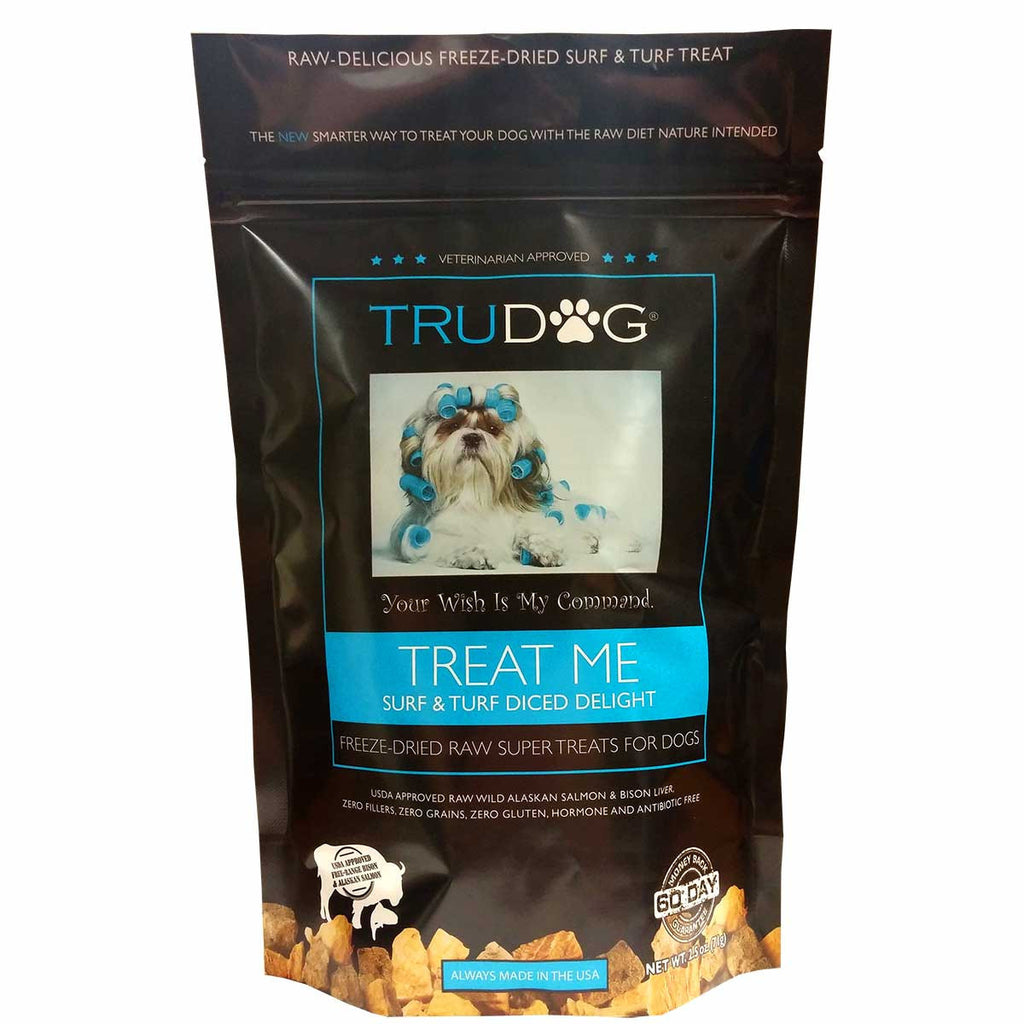 Treat Me Surf and Turf Salmon and Bison Dog Treats 2.5 ounces