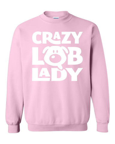 Crazy Lab Lady Crew Sweatshirt - White print