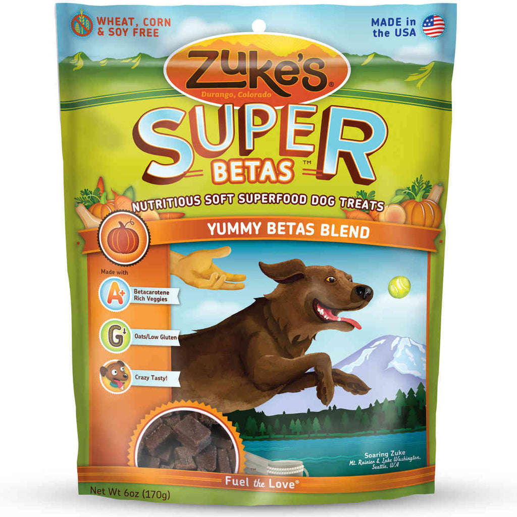 Supers All Natural Nutritious Soft Superfood Dog Treats Yummy Beta 6 oz.