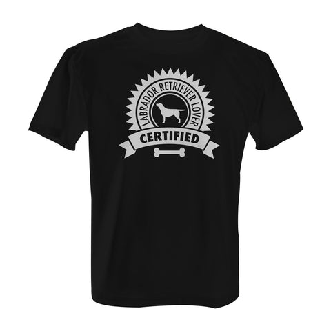 Certified Labrador Retriever Lover - T-Shirt with White Print