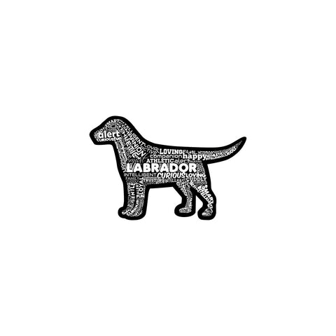 Die-Cut Labrador Retriever Sticker