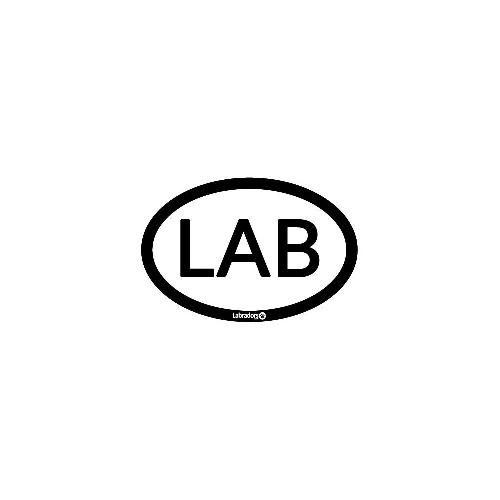 LAB- Labrador Retriever Oval Sticker