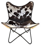 Butterfly Chair GRAF in Brown White Cowhide